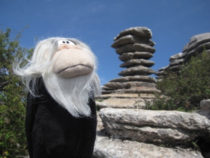 I was admiring the rock formations.