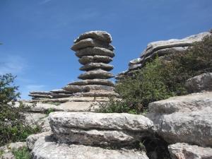 Unusual rock formations.