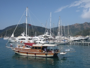 One of the marinas in Göcek.
