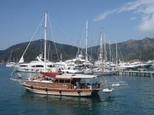 One of the marinas in Göcek.