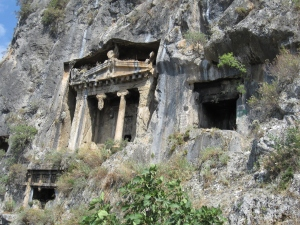Ancient burial tombs.
