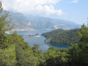 Ölüdeniz beach and the lagoon.