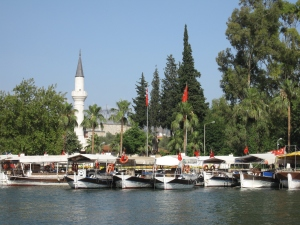 The river town of Dalyan.