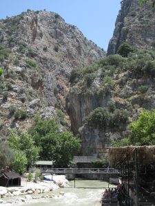 Saklikent Gorge is over 20kms long.