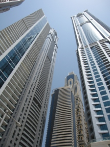 The skyscrapers of Dubai Marina.