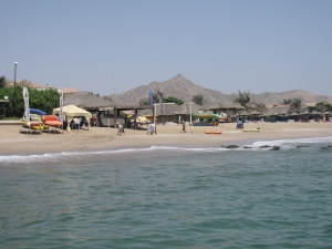 The resort of Fujairah on the east coast of the UAE.