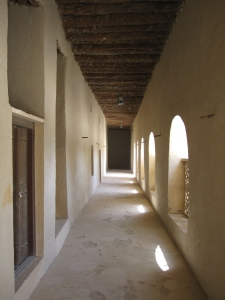 Inside the corridors of the fort.
