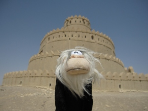 Me posing in front of Al Jahili fort.