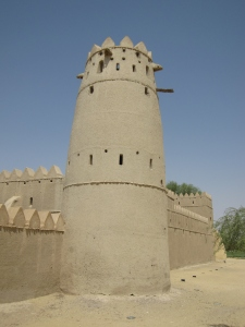 One of the smaller towers of the fort.