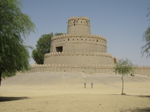 The round tower as seen from the Al Ain garden park.
