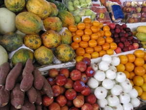 Fresh fruit from the market.
