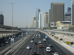 The traffic on Sheikh Zayed Road.