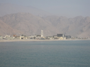 The small border town of Dibba in Oman.