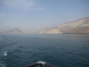 The coastline of the The Musandam peninsula.
