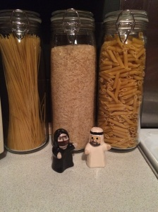 Shake my Sheikh salt and pepper shakers.